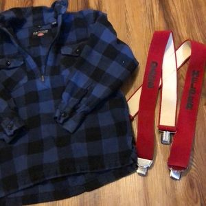 Flannel and suspenders